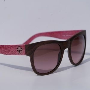 TORY BURCH WOODEN FRAME DESIGNER SUNGLASSES